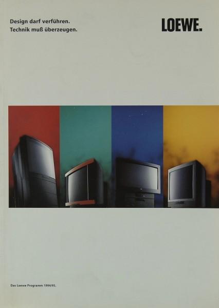 Loewe Das Loewe Programm 1994/95 Prospekt / Katalog
