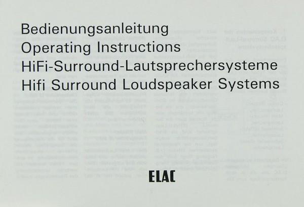 Elac Surround-Lautsprechersystem Bedienungsanleitung
