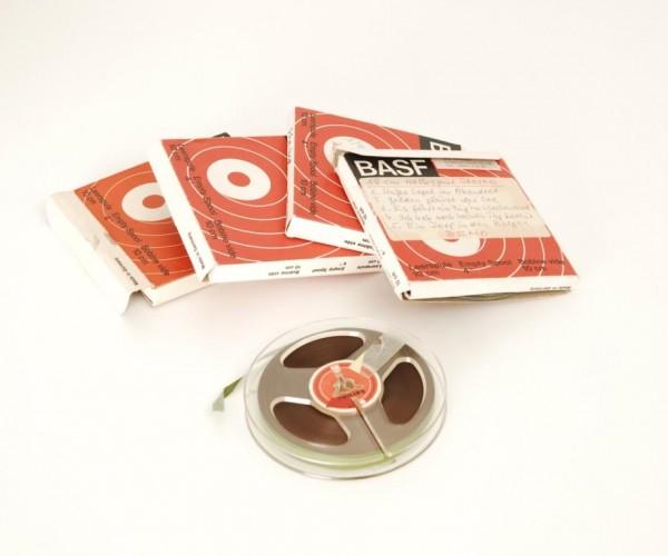 Tonbänder 10er DIN Kunstoff 10cm voll