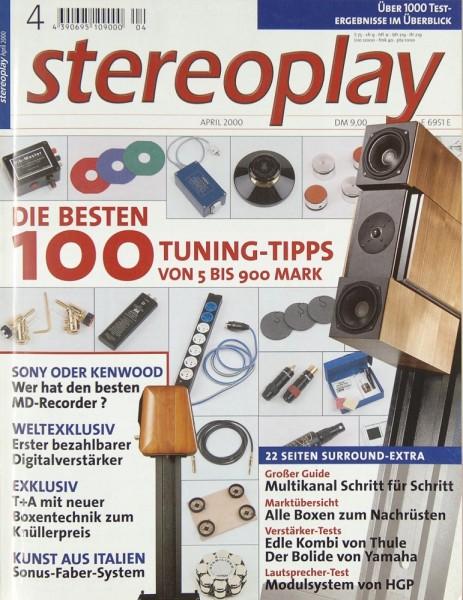 Stereoplay 4/2000 Zeitschrift