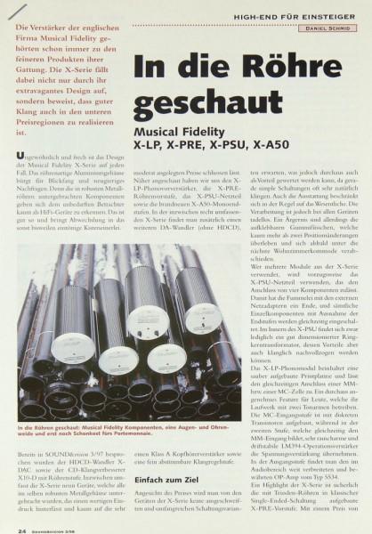 Musical-Fidelity X-LP / X-PRE / X-PSU / X-A 50 Testnachdruck