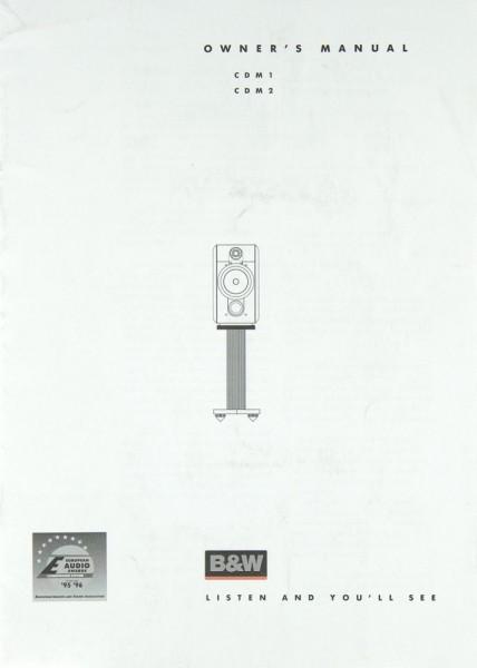 B & W CDM 1 / CDM 2 Bedienungsanleitung