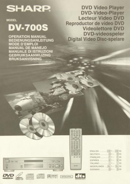 Sharp DV-700 S Bedienungsanleitung