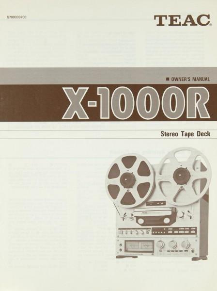 Teac X-1000 R Bedienungsanleitung