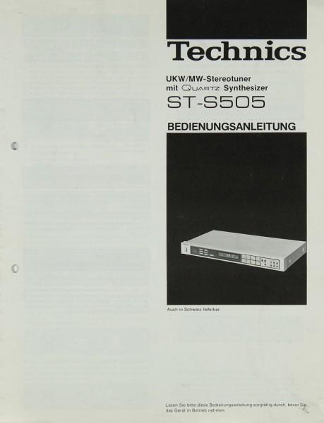 Technics ST-S 505 Bedienungsanleitung