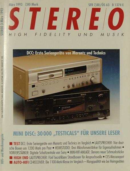 Stereo 3/1993 Zeitschrift