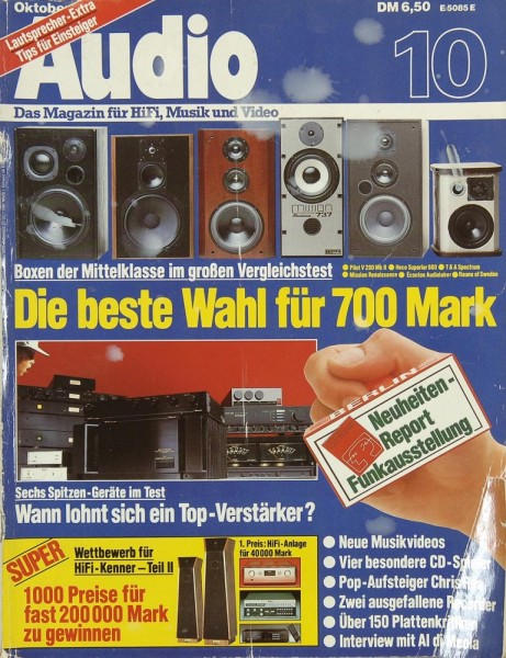 Audio 10/1985 Zeitschrift