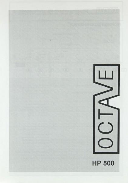 Octave HP 500 Bedienungsanleitung