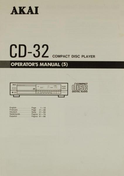Akai CD-32 Bedienungsanleitung