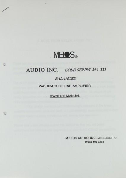 Melos MA-333 Bedienungsanleitung