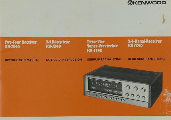 Kenwood KR-7340 Bedienungsanleitung