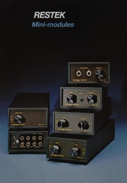 Restek Mini-Modules Prospekt / Katalog