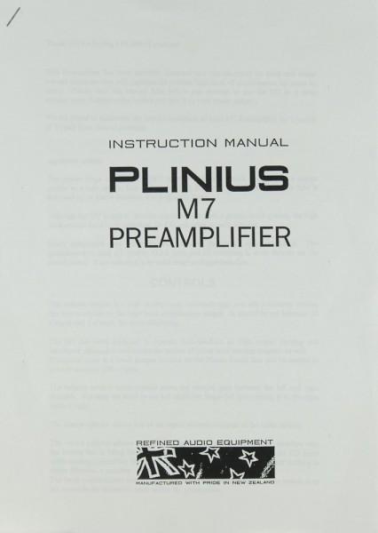 Plinius M 7 Bedienungsanleitung