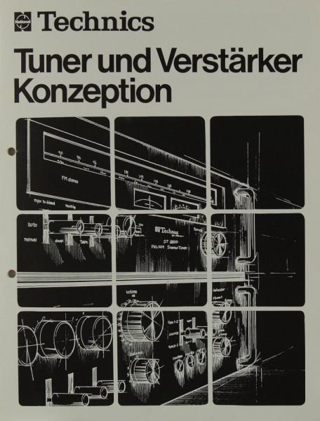 Technics Tuner und Verstärker Konzeption Prospekt / Katalog