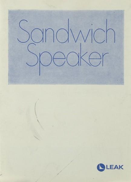 Leak Sandwich Speaker Bedienungsanleitung