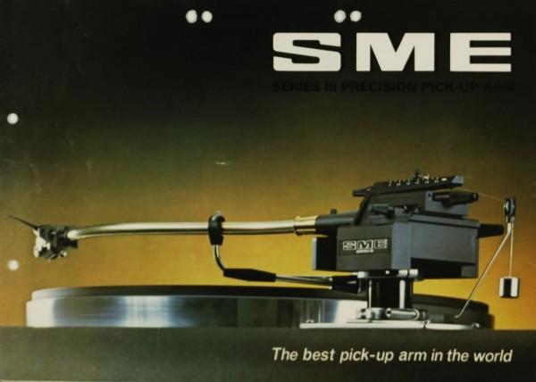 SME Series III Precision Pick Up Arm Prospekt / Katalog