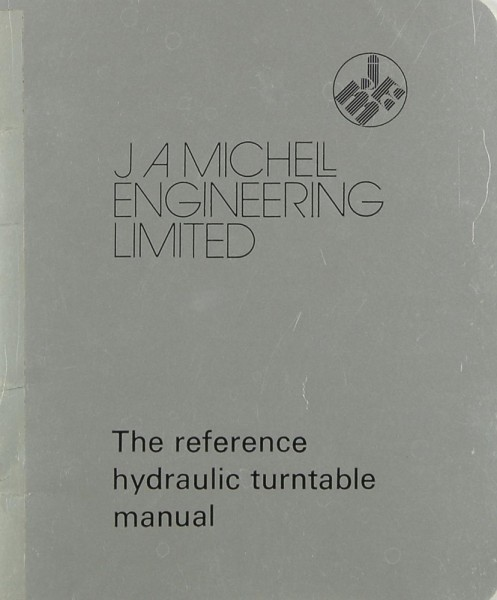 J A Michell Reference Hydraulic Turntable Bedienungsanleitung