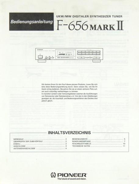 Pioneer F-656 Mark II Bedienungsanleitung