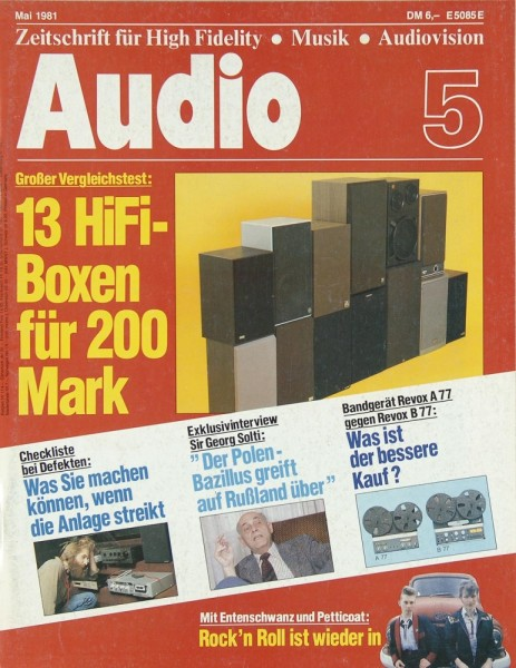 Audio 5/1981 Zeitschrift