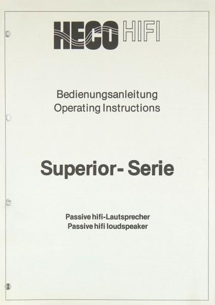Heco Superior Serie Bedienungsanleitung