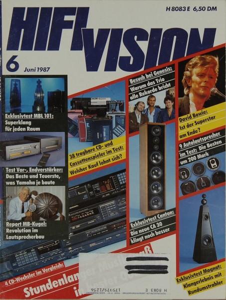 Hifi Vision 6/1987 Zeitschrift