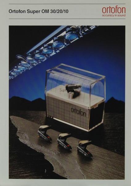 Ortofon Ortofon Super OM 30 / 20 / 10 Prospekt / Katalog