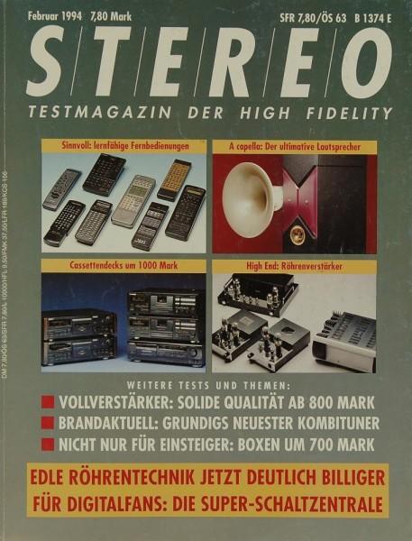Stereo 2/1994 Zeitschrift