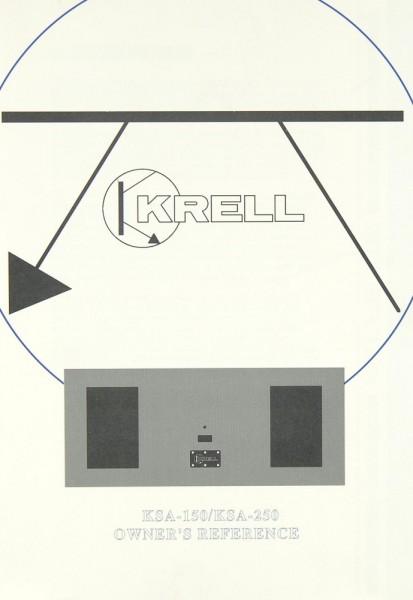 Krell KSA-150 / KSA-250 Bedienungsanleitung