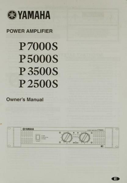Yamaha P 7000 S / P 5000 S / P 3500 S / P 2500 S Bedienungsanleitung