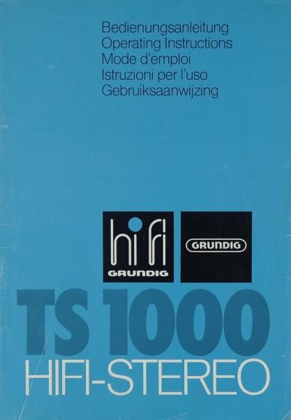 Grundig TS 1000 Bedienungsanleitung