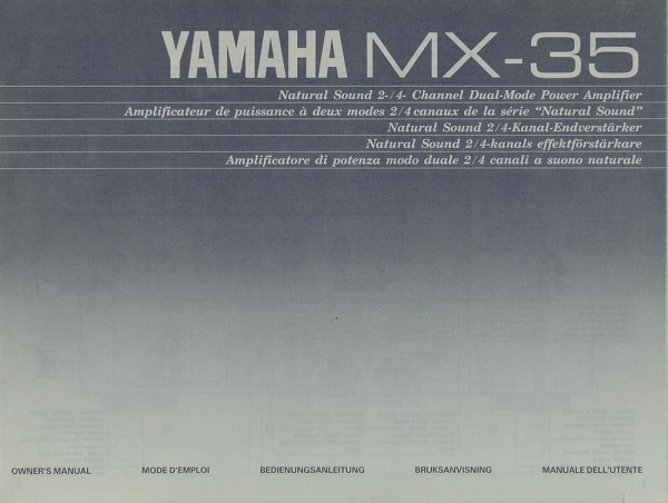 Yamaha MX-35 Bedienungsanleitung