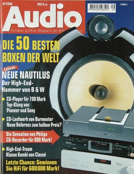 Audio 9/1998 Zeitschrift