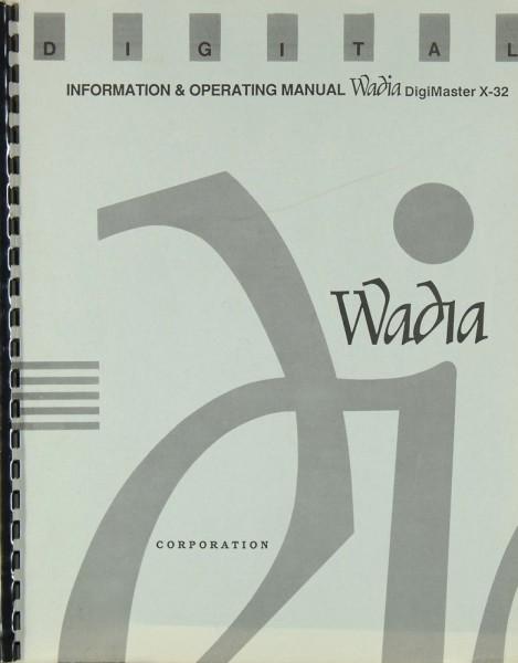 Wadia X-32 Bedienungsanleitung