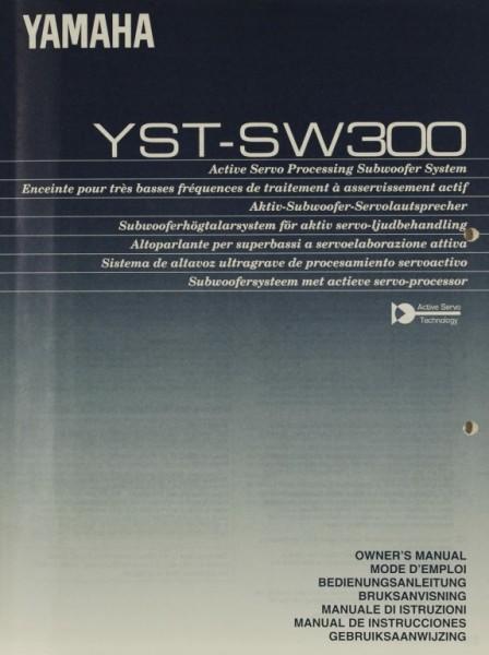 Yamaha YST-SW 300 Bedienungsanleitung