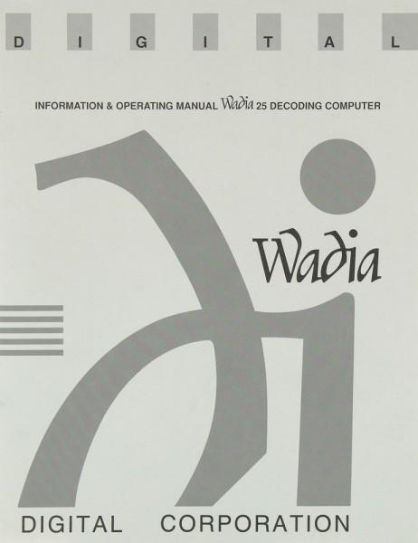 Wadia 25 Bedienungsanleitung