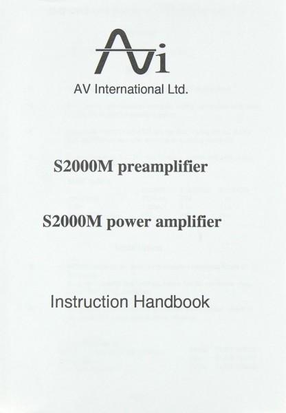 AVI S 2000 M Bedienungsanleitung
