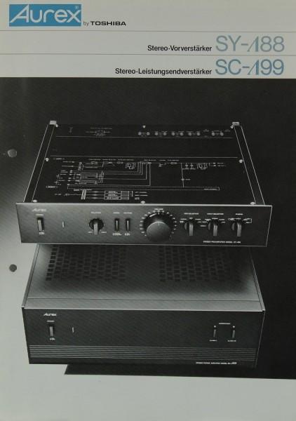 Aurex / Toshiba SY- 88 / SC- 99 Prospekt / Katalog