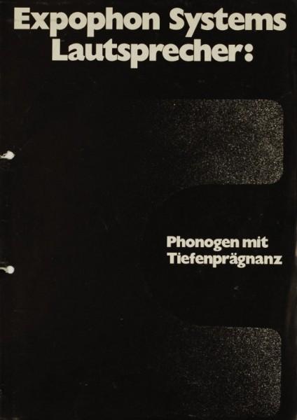 Expophon Systems Phonogen mit Tiefenprägnanz Prospekt / Katalog