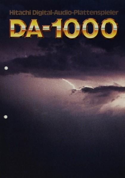 Hitachi DA-1000 Prospekt / Katalog