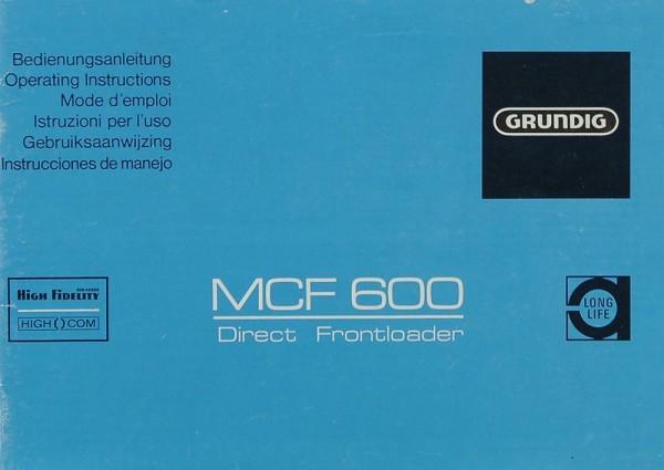 Grundig MCF 600 Bedienungsanleitung