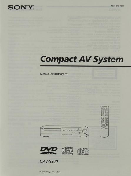 Sony DAV-S 300 Bedienungsanleitung