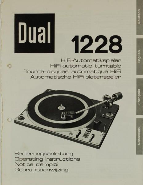 Dual 1228 Bedienungsanleitung