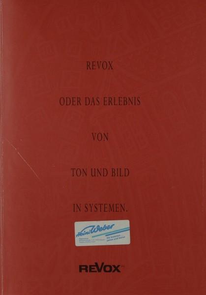 Revox Das Erlebnis von Ton & Bild in Systemen Prospekt / Katalog