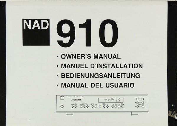 NAD 910 Bedienungsanleitung