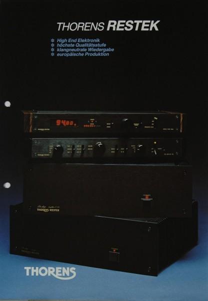 Thorens / Restek D 2 a / V 3 / ES 3 / E 3 Prospekt / Katalog
