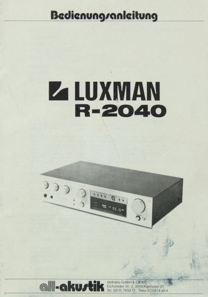 Luxman R-2040 Bedienungsanleitung