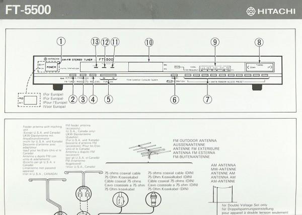 Hitachi FT-5500 Bedienungsanleitung