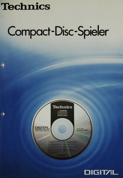 Technics Compact-Disc-Player Prospekt / Katalog