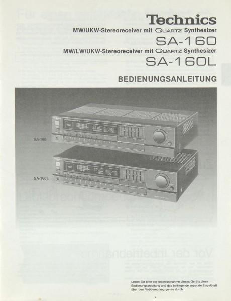 Technics SA-160 / SA-160 L Bedienungsanleitung