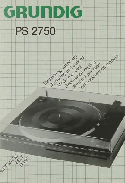 Grundig PS 2750 Bedienungsanleitung